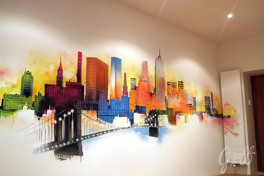 Decoration new york city le petit graff d coration - Deco murale new york ...