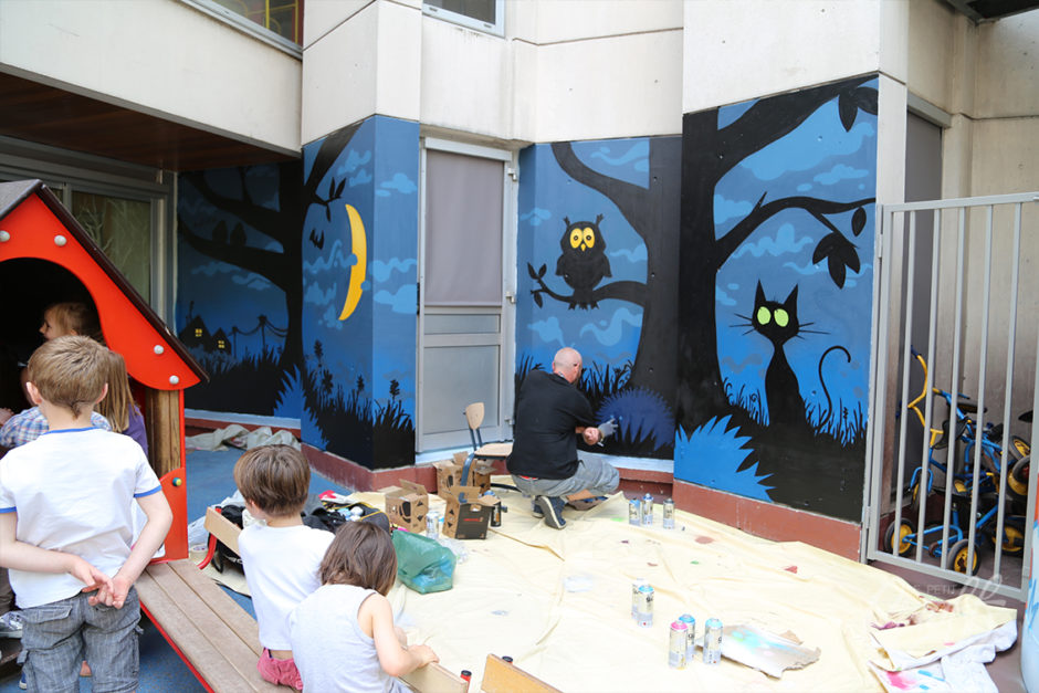 Unique Ecole Faidherbe – Fresque murale pour école maternelle – Le Petit  ZG05
