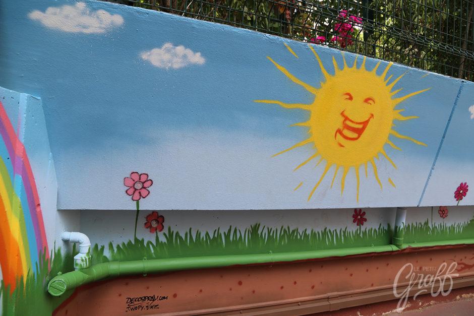 Préféré Ecole Faidherbe – Fresque murale pour école maternelle – Le Petit  EI44